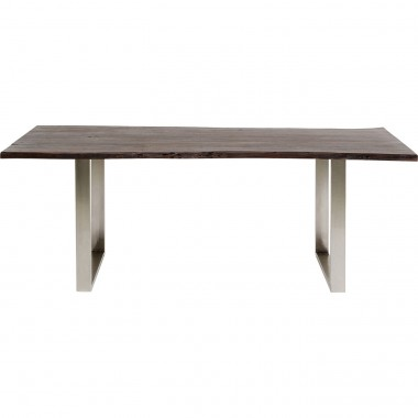Table Harmony Walnut Chrome 160x80cm Kare Design