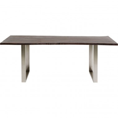 Table Harmony Walnut Chrome 180x90cm Kare Design