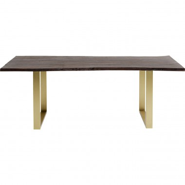 Table Harmony noyer laiton 160x80cm