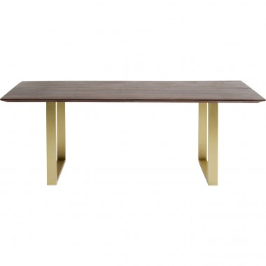 Table Symphony Walnut Brass 160x80cm Kare Design