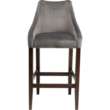 Tabouret de bar Mode velours gris