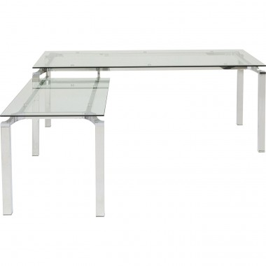 Desk Lorenco Corner Chrome 210x180cm Kare Design