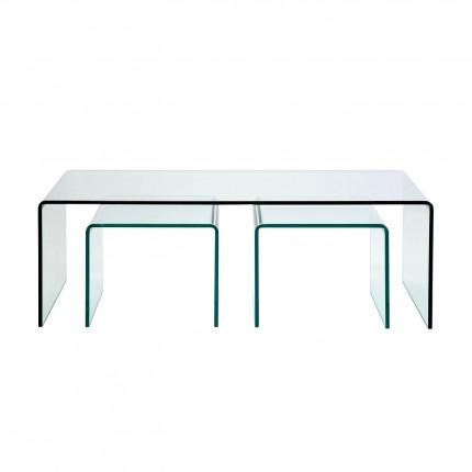 Coffee Table Clear Club (3/Set) Kare Design