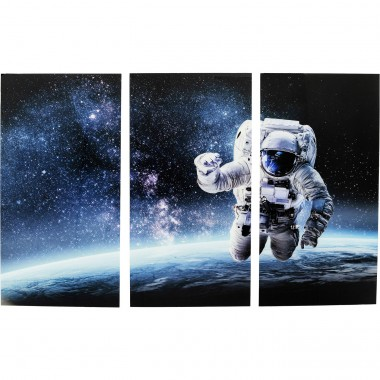 Tableau en verre Triptychon Man in Space 160x240