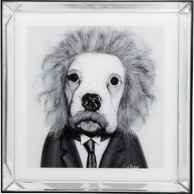 Tableau Frame Mirror Smart Dog 60x60cm