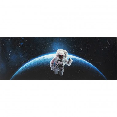 Tableau en verre Man In Space 80x240cm