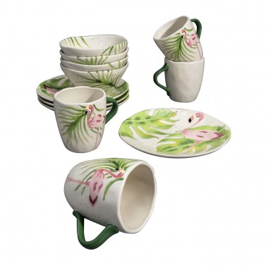 Ontbijtset Flamingo (12/Set) Kare Design