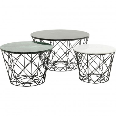 Coffee Table East Round (3/Set) Kare Design