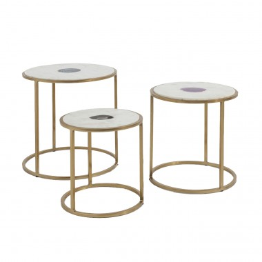 Side Table Limbo (3/Set) Ø45cm Kare Design
