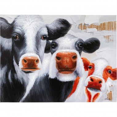 Tableau Touched Snoopy Cows 120x90cm