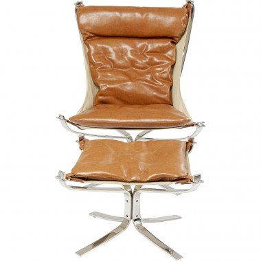 Fauteuil + Voetsteun Washington Brown Kare Design