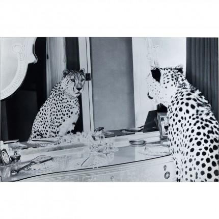 Glasplaat Metallic Gepard 100x150cm Kare Design
