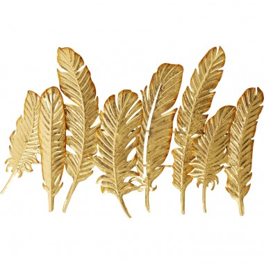 Coat Rack Leaf Gold 86cm Kare Design