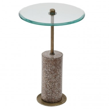 Table d appoint Terrazzo visible rouge 54cm