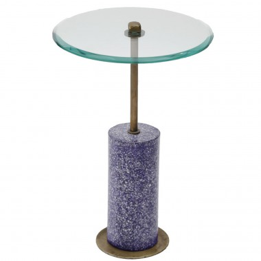 Side Table Terrazzo Visible Blue 46cm Kare Design