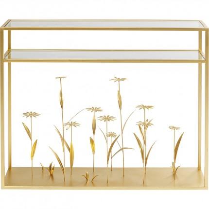 Console Flower Meadow doré 100cm