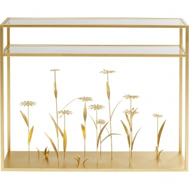 Console Flower Meadow Gold 100cm Kare Design