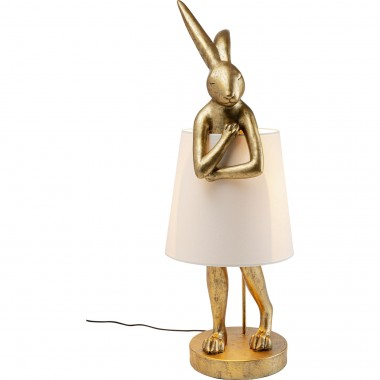 Lampe à poser Animal Rabbit doré 88cm