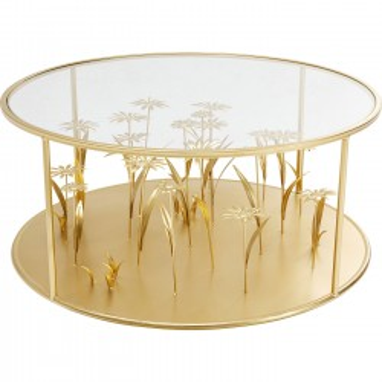 Coffee Table Flower Meadow Gold Ø80cm Kare Design