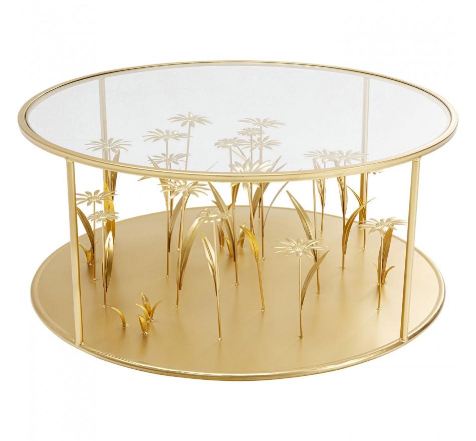 Table basse Flower Meadow doré Ø80cm