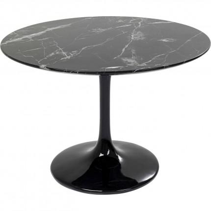 Eettafel Solo Marble Black Ø110cm Kare Design
