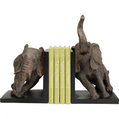 Boekensteunen Elephants 25cm (2/Set) Kare Design