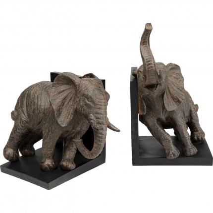Boekensteunen Elephants 25cm (2/Set) Kare Design