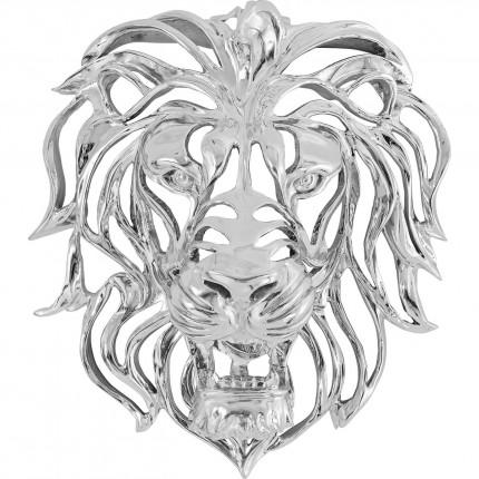 Décoration murale Lion argenté