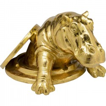 Objet décoratif Struggling Rhino doré