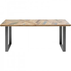 Table Abstract acier brut 180x90