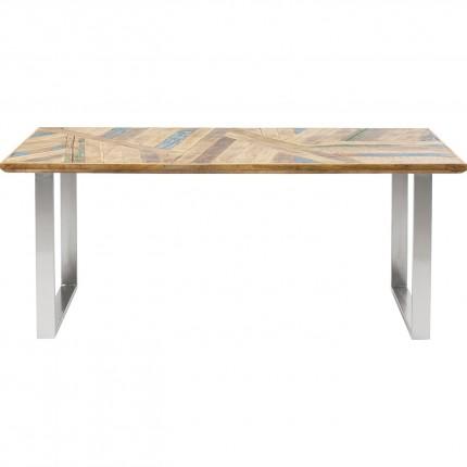 Table Abstract chromé 180x90