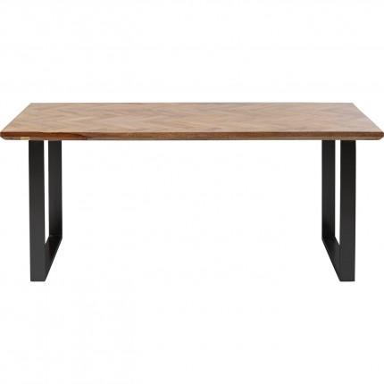 Eettafel Parquet Zwart 180x90cm Kare Design