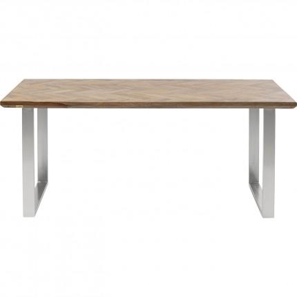 Table Parquet chromé 180x90