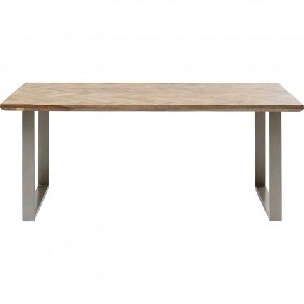 Table Parquet argenté 180x90