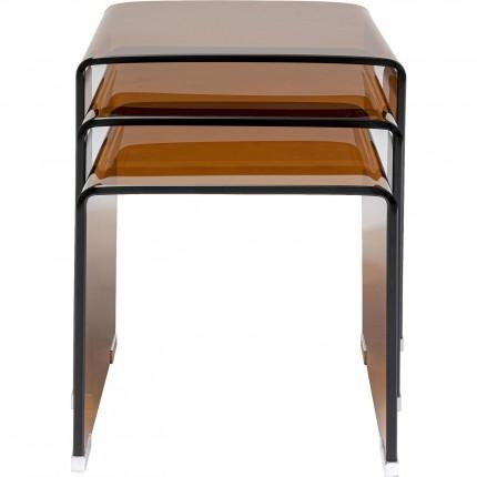 Side table Visible Amber (3/Set) Kare Design