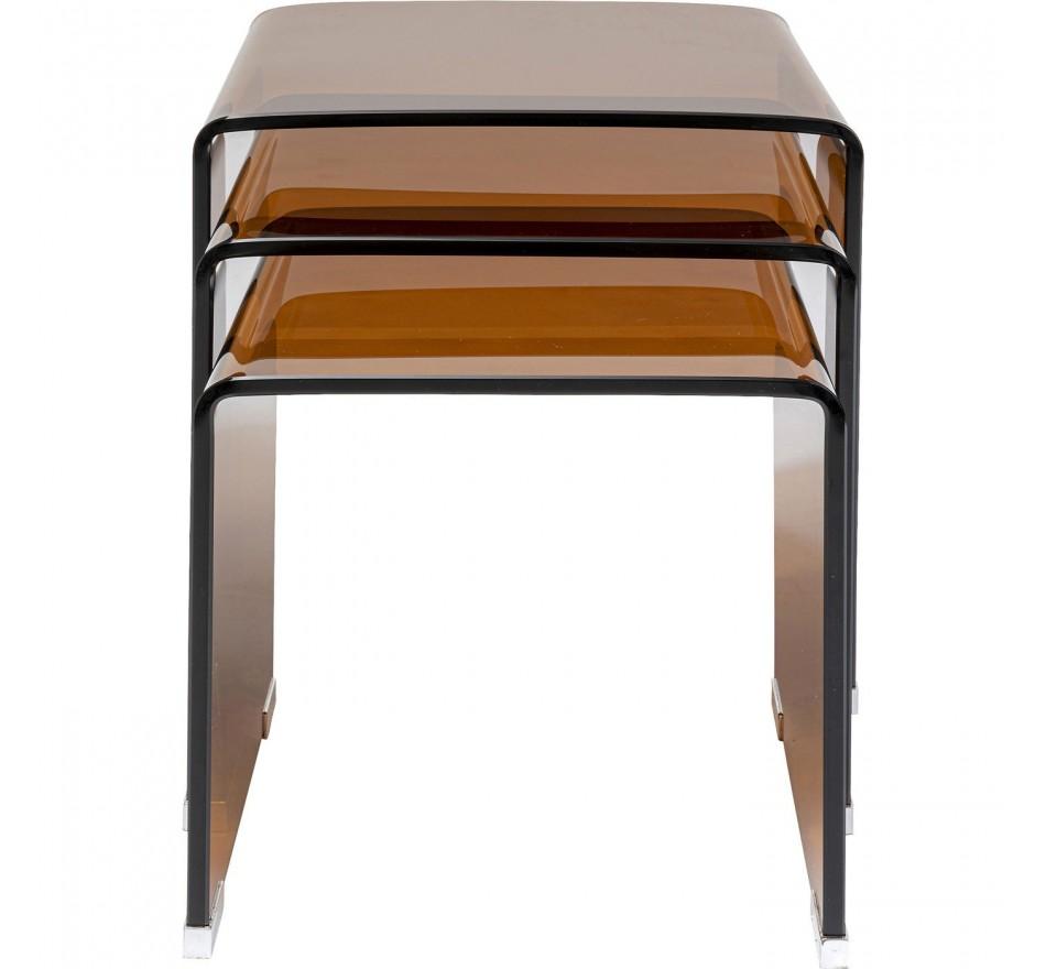 Tables d appoint Visible Amber (set de 3)