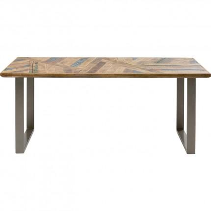 Table Abstract argenté 180x90