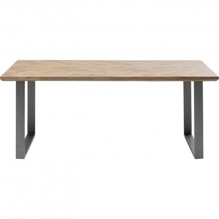 Table Parquet acier brut 180x90