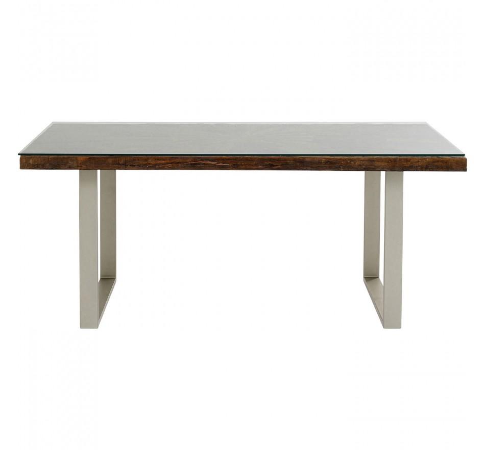 Table Conley argenté 180x90