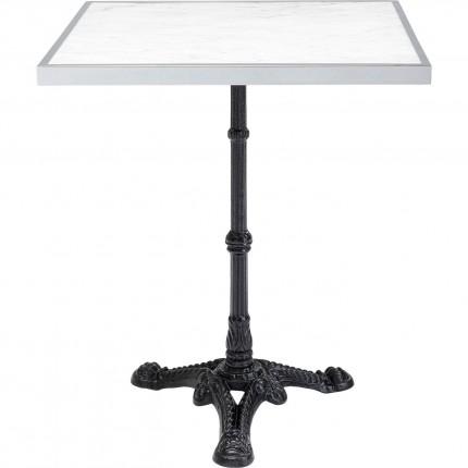 Table bistrot Kaffeehaus Rim blanc 60x60