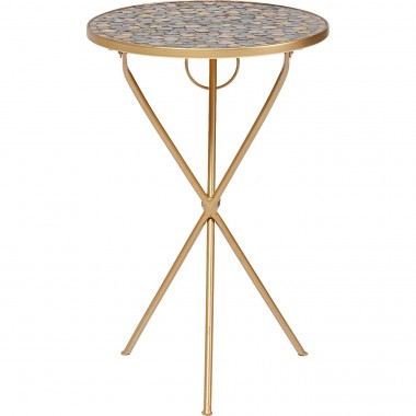Table d appoint Clack Mosaic pebbles Ø36