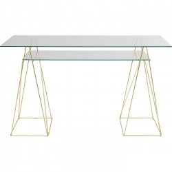 Desk Polar Gold 135x65cm Kare Design