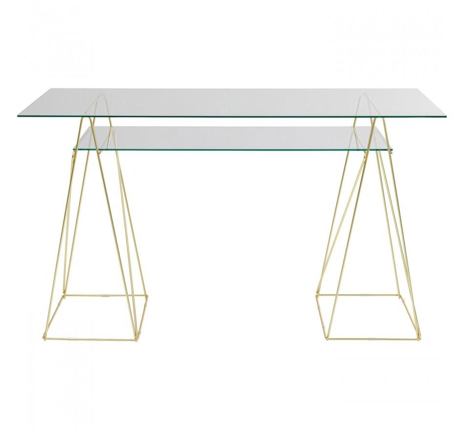 Bureau en verre Polar 135x65cm Kare Design