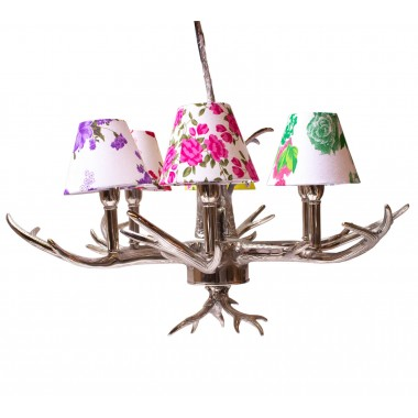Pendant Lamp Antler Flowers 6-Branched Kare Design