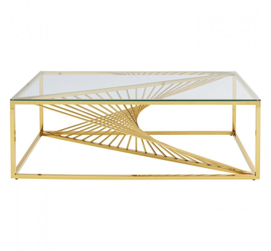 Table basse Laser doré 120x60