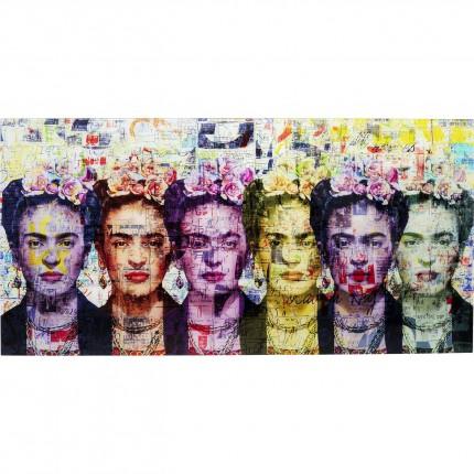 Tableau en verre Frida Love 160x80