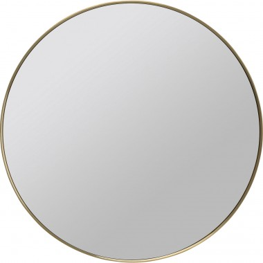 Miroir Curve look chrome Ø80