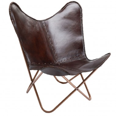 Armchair Butterfly Brown Kare Design