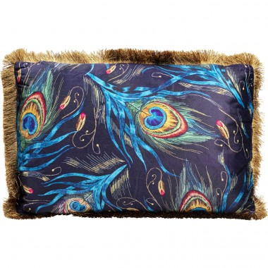 Coussin Peacock Feather bleu 40x60