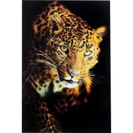 Fotoglas Leopard Shaka 120x80cm Kare Design
